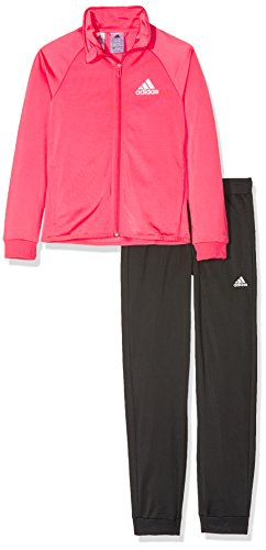 adidas Kinder YG S Entry TS Trainingsanzug, Real Pink s18/White, 170