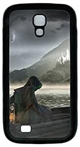Brian114 Samsung Galaxy S4 Case, S4 Case - Customized Design Soft Back Case for Samsung Galaxy S4 I9500 Grim Reaper Heading To The Abandoned Castle Print Pattern Black Case for Samsung Galaxy S4 I9500