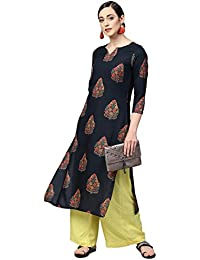 Vaamsi Women's Cotton a-line Kurta