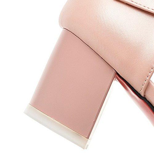 Tallone Rosa Solido Indicato Cuoio Chiaro Destro Ha Donna I Colore Fibbia Pattini Con Voguezone009 7IFYwFSqz