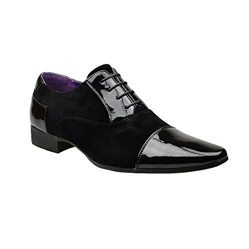 Mens New Casual Black Leather Smart Formal Lace Up Shoes UK SIZE...
