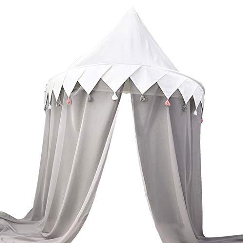 Homyl Kinderbett Prinzessin Moskitonetz Baldachin Mit Chiffon Vorhang - Kinderzimmer Hängende Betthimmel Spielzelt - Größe auswählbar - 110 x 50 cm -