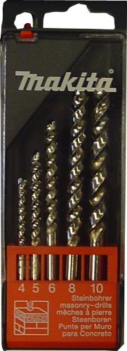 Makita P-54081 - Set di punte per pietra 4 / 5 / 6 / 8 (Punta Di Pietra)