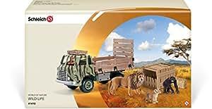 Schleich - 41410 - Accessoire Pour Figurine - Camion Safari-sauvetage D'animaux