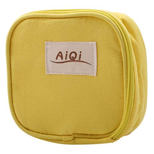 Idiytip Gelbe Damenbinde Tasche Kleine Handtasche Geld Halter Münzspeicher Organizer Sanitär Pad Convenience Pouch Purse (Sanitär-pad-halter)