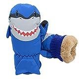 7-Mi Children's Water-resistant Ski Snow Gloves Warm Outdoor Sports Mitten,Windproof Nylon Winter Shark