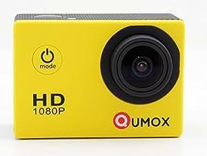 QUMOX Actioncam SJ4000, Action Sport Kamera Camera Waterproof, Full HD, 1080p Video, Helmkamera, Gelb