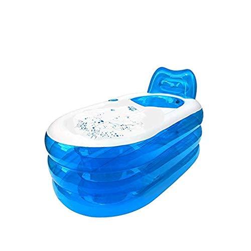 CHICTI Aufblasbare Badewanne, Faltbar Verdickte Erwachsenen Badewanne Massage Tragbare Kunststoff Badewanne Mit Manueller Luftpumpe