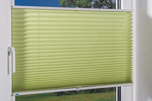 K-home Klemmfix-Plissee Palma Grün 80 x 130 cm (B x L) Lichtschutz +++ Moderne Crushed Optik +++ - 5