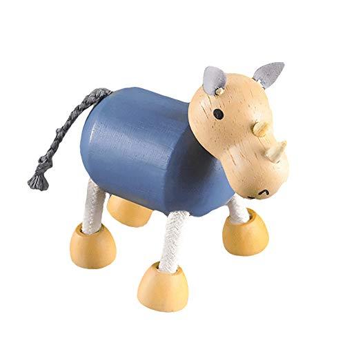 flybuild Holz Mini Simulieren Faux Tiger Hippo Wildtier Modell Handwerk Schreibtisch Dekor Spielzeug 11# -