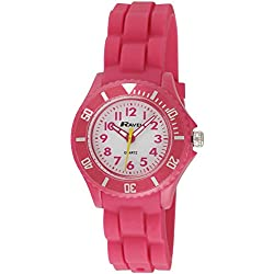 Ravel Children's Easy Read Quartz Watch with White Dial Analogue Display and Pink Silicone Strap R1802.5