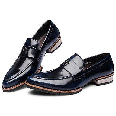 Chaussures d'hommes Office & Carrière / Party & soirée / Trotteurs en cuir décontracté noir / bleu / noir / Bourgogne Blue