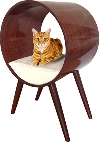 Penn-Plax Modern Cat Bed, Round Stylish Cat Furniture for All Breeds and Sizes