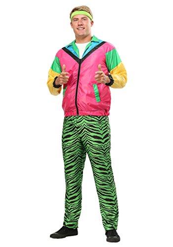 Herren 80er Jahre Jock Plus Size Kostüm - 2X