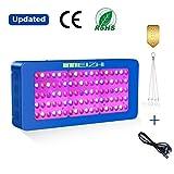 MEIZHI Pflanzenlampe, LED Grow Lampe 450W, Vollspektrum für Zimmerpflanzen Schaltbar Gemüse und Blüte Reflektor Serie