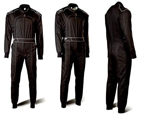 Speed Kartoverall Schwarz - Daytona Modell 2018 - Karting Suit (XXL) - Speed Overall