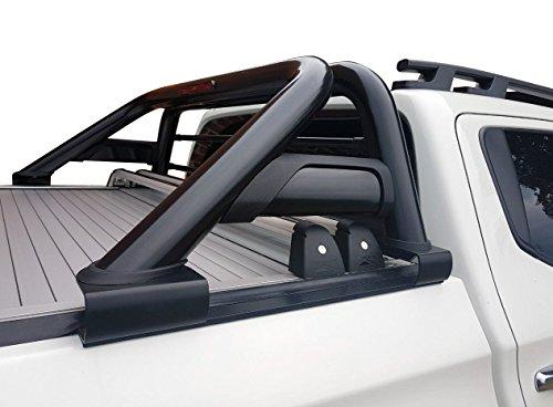 Fahrzeugspezifischer Schwarzer Überrollbügel (2006-) 76mm mit Gitter & LED Rückleuchte inkl. Teilegutachten - passend für alle Kabienentypen.