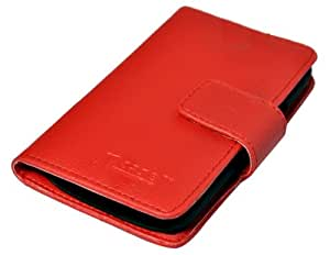 nCase PFBC-8652RD Book Type Mobile Cover (RED)