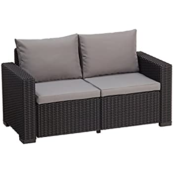 allibert lounge sofa rattan california sofa 2 sitzer grau. Black Bedroom Furniture Sets. Home Design Ideas