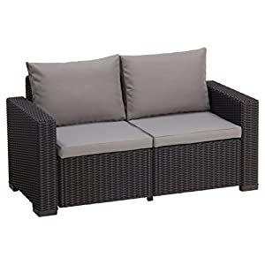 Allibert Lounge Sofa California 2-Sitzer, graphit/cool grey