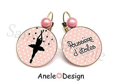 Boucles d'oreille Rose Ballet Poussière d'étoiles