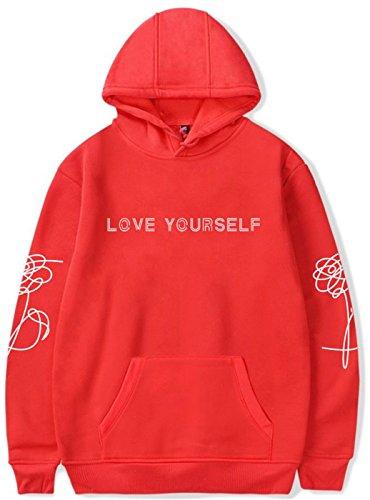 SERAPHY Unisex BTS Love Yourself Cappuccio Invernale BTS Felpe con Cappuccio  per l esercito Suga 60116dcf1563