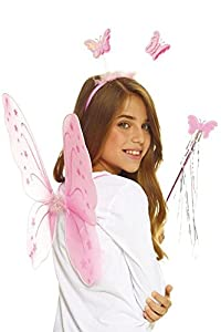 AEC-set mariposa rosa, Unisex infantil, aq05622, talla única