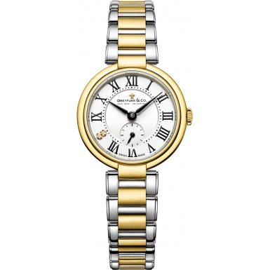 Dreyfuss and Co DLB00158-01 Ladies Series 1974 Two Tone Steel Bracelet Watch