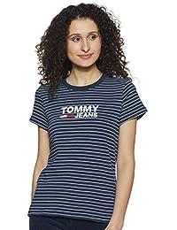 902d04a8 TOMMY HILFIGER Women's Striped Regular fit T-Shirt