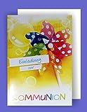 Feste Feiern zur Kommunion I 5 Teile Einladung Doppelkarten mit Briefumschlägen I Windrad mehrfarbig
