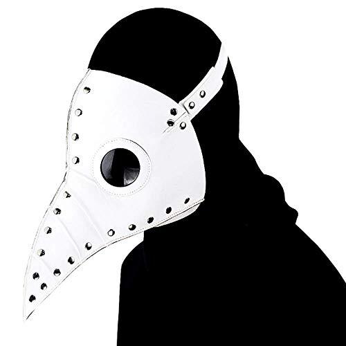 ng Bird Arzt PU Maske, Halloween Rollenspiel Party Maske, Gefaltet, 3 Farben Erhältlich,White ()