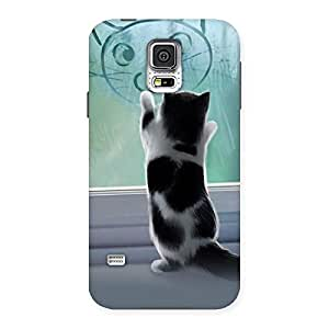 Enticing Cute Kitty Face Print Back Case Cover for Samsung Galaxy S5