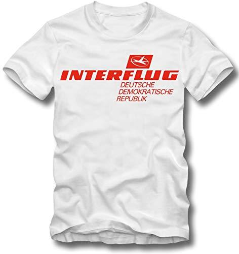 URBAN KULT T Shirt INTERFLUG DDR Retro Airline DEUTSCHE DEMOKRATISCHE Republik, M -