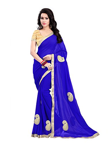 SAREES(Women\'s Clothing Sarees for Women latest Color Sarees collection in latest Lycra Sarees with designer Blouse Piece free size beautiful bollywood Sarees for Women party wear offer designer Sare