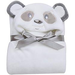 Missbleu Sortie de Bain a Capuche Animaux-Peignoir de Bain Bebe Serviette Couverture Drap de Bain Bebe Panda