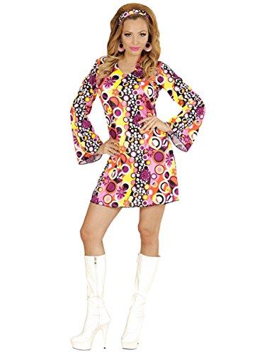 70er Jahre Kostüm Niedliche - Widmann wid67673-Kostüm für Erwachsene Groovy Girl, mehrfarbig, L
