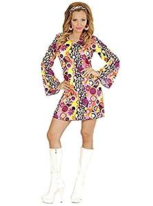 WIDMANN wid67673?Disfraz para adultos Groovy Girl, multicolor, L