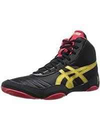 Zapato de lucha JB Elite V2.0 para hombre, Negro / Oro ol¨ªmpico / Rojo, 4.5 M US
