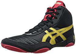 Asics Men's Jb Elite V2.0 Wrestling Shoe, Blackolympic Goldred, 9 M Us