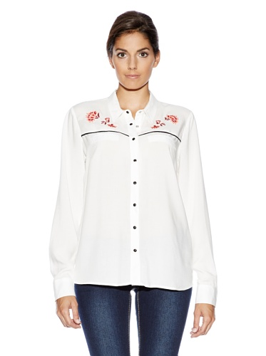 Vero Moda - Chemise Vero Moda Hilary Flower - Blanc Blanc