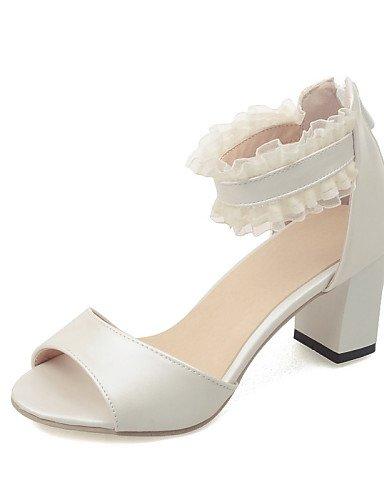 UWSZZ IL Sandali eleganti comfort Scarpe Donna-Sandali-Formale-Aperta-Quadrato-Finta pelle-Blu / Rosa / Beige Pink