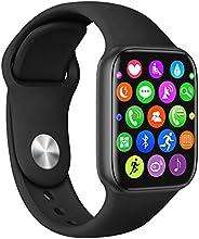 ساعة ذكية (تلقي/اجراء مكالمة) شاشة لمس بالكامل 1.75 انش لتعقب اللياقة البدنية، ساعة ذكية بلوتوث بتصنيف اي بي 6