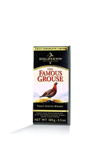 Famous Grouse Whisky Goldkenn Schokolade a 100 g, flüssig gefüllt mit Zuckerkruste