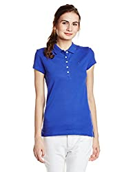 Tommy Hilfiger Womens Striped T-Shirt (P7AWK130S_Clematis Blue)