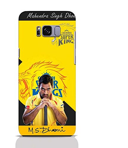 Shoptrip's mobile printed plastic back cover for Samsung Galaxy s8 plus - IPL - MS Dhoni - Chennai Superking