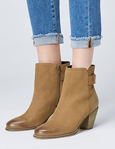 FIND Damen Ankle-Boots Braun (Tan)