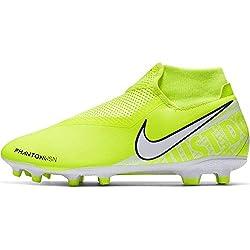 Nike Phantom Vision Academy Dynamic Fit MG, Botas de fútbol Unisex Adulto, Verde White/Volt 717, 44.5 EU