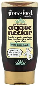 Groovy Food Premium Agave Nectar Organic Natural Sweetener Rich and Dark 250 ml (Pack of 3)