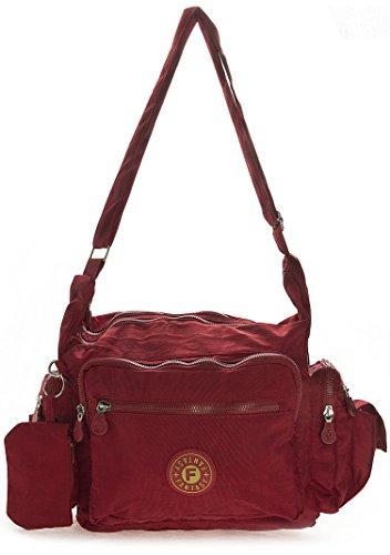 Big Handbag Shop, Borsa a tracolla donna One Rosso (rosso)