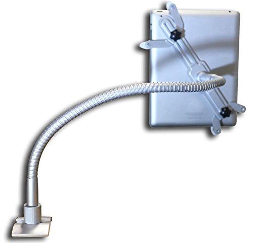 M&G Techno® Germany DESIGN alu universelle iPad Ständer Halterung Halter für Apple iPad 2/3/4/mini/mini2/air Bett Schreibtisch Tisch Klammer Halterung Stativ 360 Grad einstellbar (für iPad mini/mini2)
